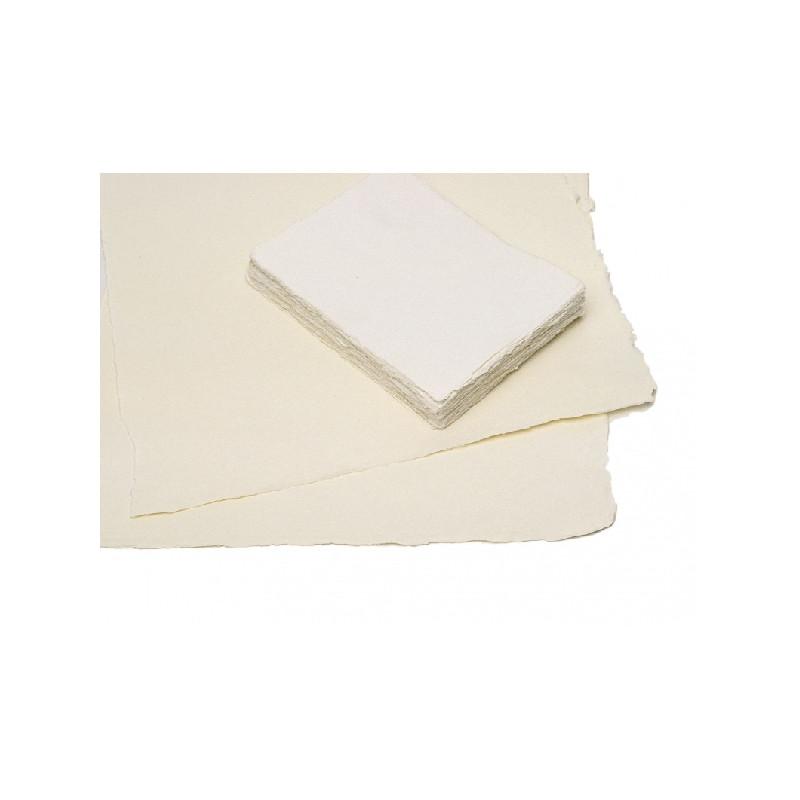 Papier aux bords frangés dessin et impression fait main 170 g/m²