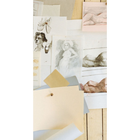 Papier dessin vergé 110 g/m²