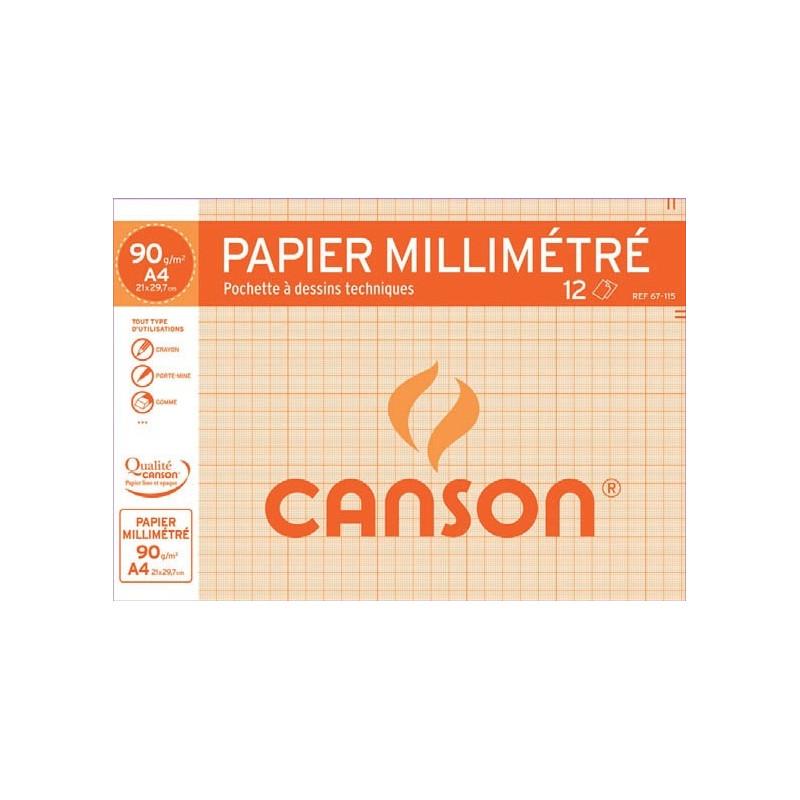 Pochette papier millimétré