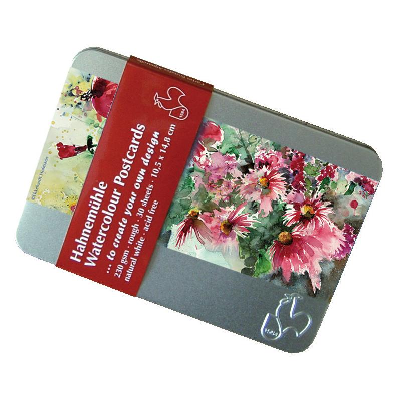 Cartes postales aquarelle en boîte