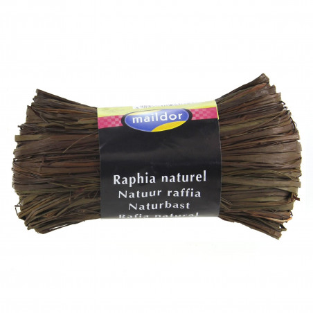 PELOTE RAFIA NATUREL CHOCOLAT