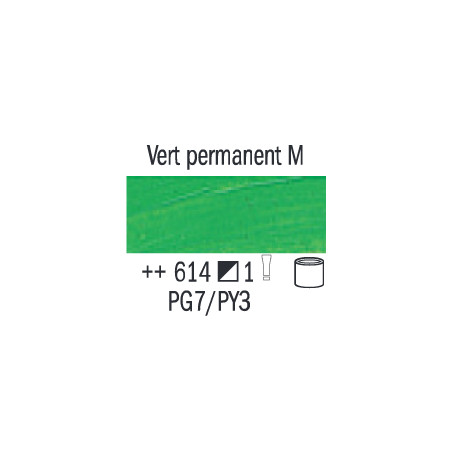 VAN GOGH HUILE 200ML S1 614 VERT PERMANENT MOYEN