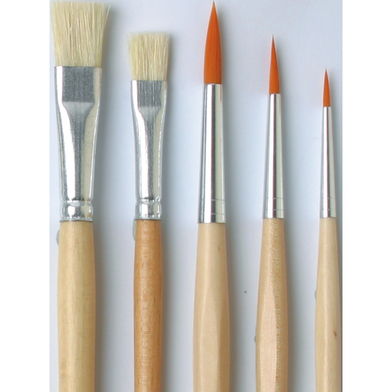 Set 5 pinceaux variés scolaires Da Vinci
