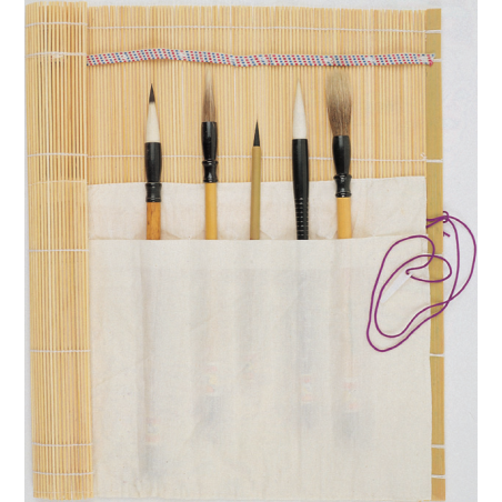 Tapis pour pinceaux en bambou Boesner