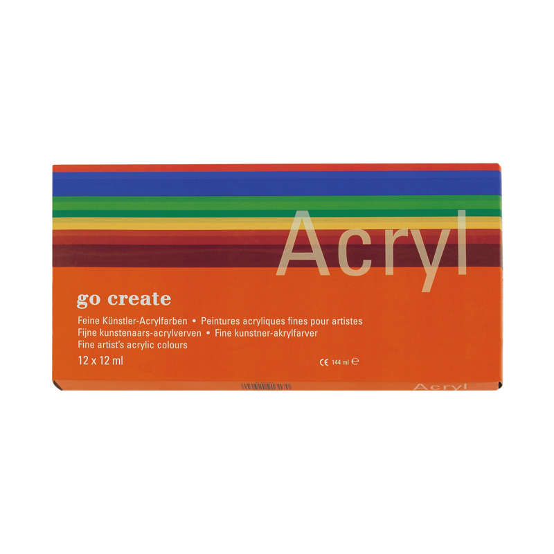 Assortiment de couleurs acryliques Go Create