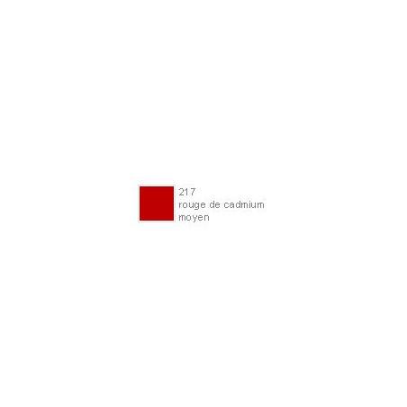 POLYCHROMOS CRAYON COULEUR 217 rouge de cadmium moyen