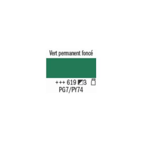 AMSTERDAM ACRYL EXPERT 400ML S3 619 VERT PERMANENT FONCE