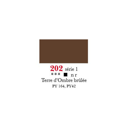 SENNELIER ACRYLIQUE EXTRAFINE 60ML S1 202 TERRE OMBRE BRULEE