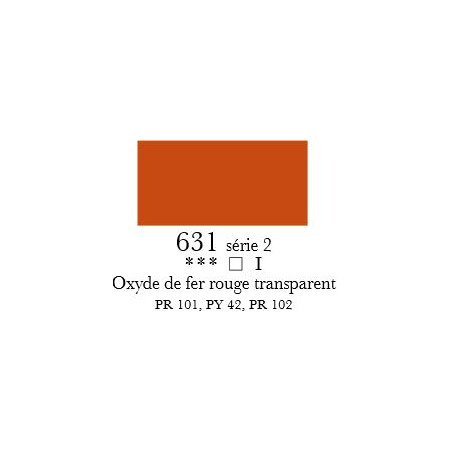 SENNELIER ACRYLIQUE EXTRAFINE 60ML S2 631 OXYDE FER ROUGE TRANSP
