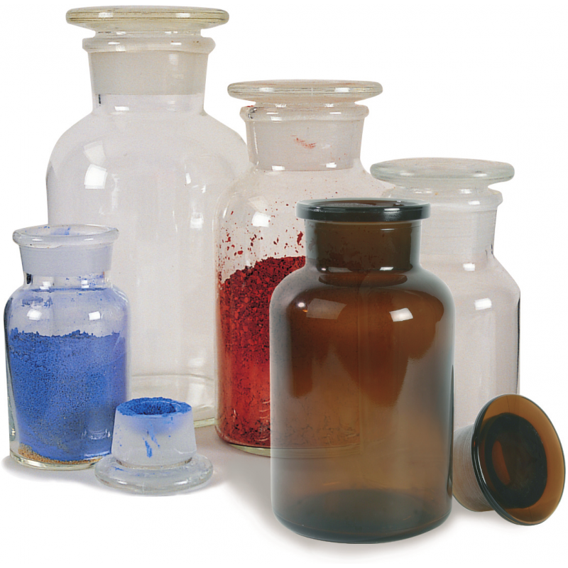 Flacons de pharmacie en verre transparent