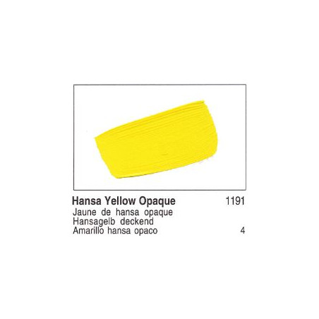 GOLDEN ACRYLIQUE 60ML S4 1191 JAUNE HANSA OPAQUE