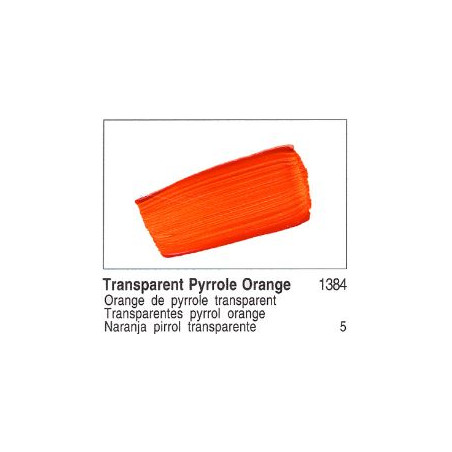 GOLDEN ACRYLIQUE 60ML S5 1384 ORANGE PYRROLE TRANSP