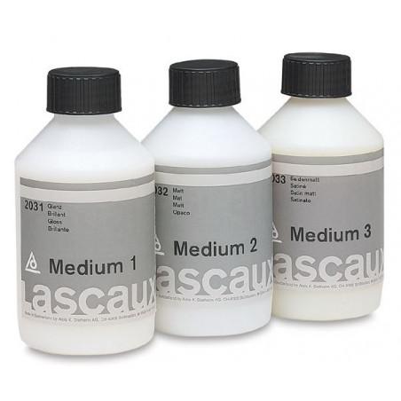 Médiums 1 brillant, 2 mat et 3 satiné Lascaux