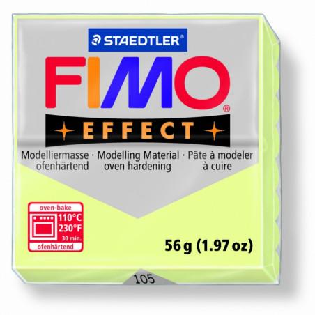 FIMO EFFECT PATE A MODELER 56G 105 JAUNE PASTEL