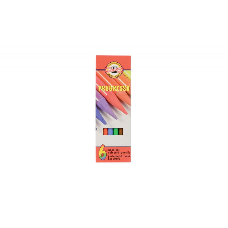 Coffret de crayons de couleur sans bois Progresso Koh-i-Noor