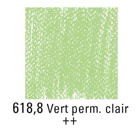 REMBRANDT PASTEL SEC 618,8 VERT PERMANENT CLAIR