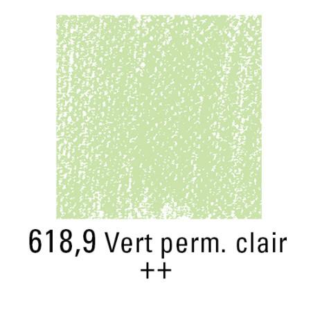 REMBRANDT PASTEL SEC 618,9 VERT PERMANENT CLAIR