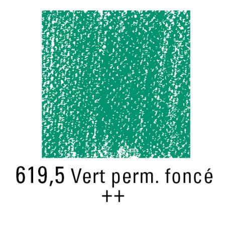 REMBRANDT PASTEL SEC 619,5 VERT PERMANENT FONCE