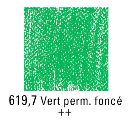 REMBRANDT PASTEL SEC 619,7 VERT PERMANENT FONCE