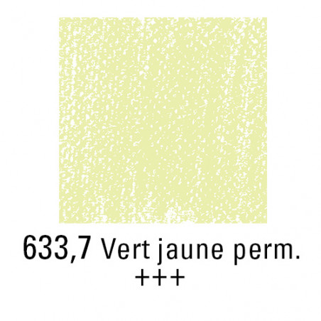 REMBRANDT PASTEL SEC 633,7 VERT JAUNE PERMANENT