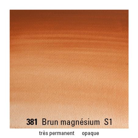 WINSOR&NEWTON AQUARELLE 1/2 GODET S1 381 BRUN MAGNESIUM