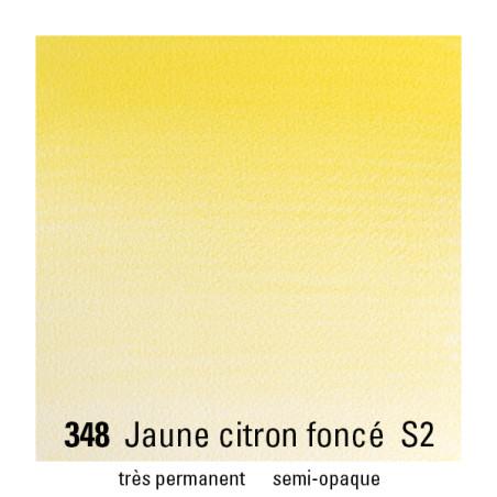 WINSOR&NEWTON AQUARELLE 1/2 GODET S2 348 JAUNE CITRON FONCE