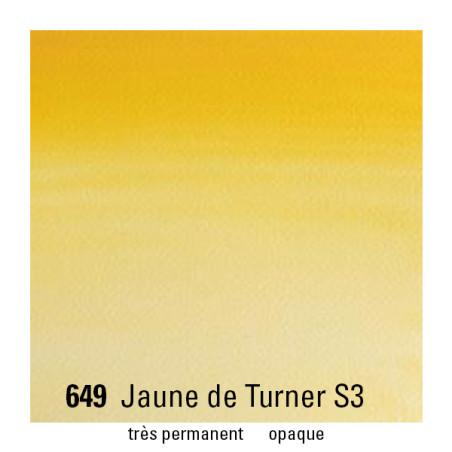 WINSOR&NEWTON AQUARELLE 1/2 GODET S3 649 JAUNE TURNER