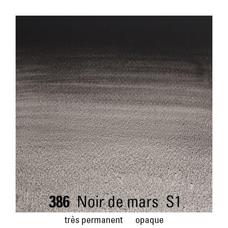 WINSOR&NEWTON AQUARELLE 1/2 GODET S1 386 NOIR MARS