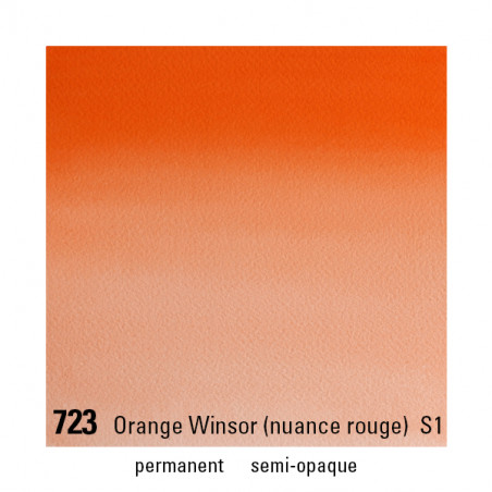 WINSOR&NEWTON AQUARELLE 1/2 GODET S1 723 ORANGE WINSOR