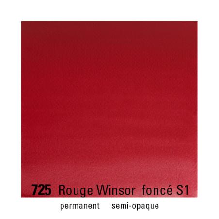 WINSOR&NEWTON AQUARELLE 1/2 GODET S1 725 ROUGE WINSOR FCE