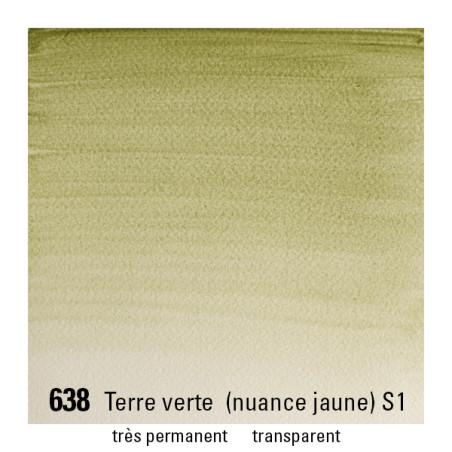WINSOR&NEWTON AQUARELLE GODET S1 638 TERRE VERTE/A EFFACER