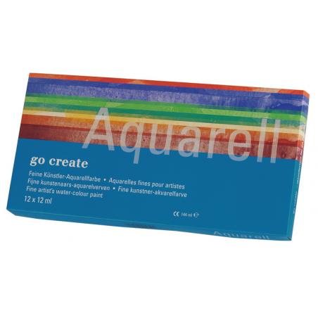 Assortiment d'aquarelles qualité étude Go Create