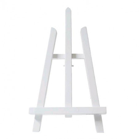 Chevalet de table an57 bois peint blanc