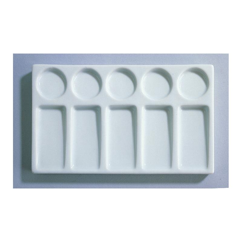 Palette rectangulaire en porcelaine