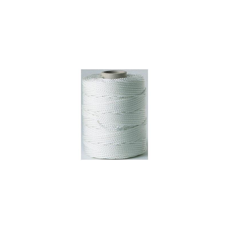 Bobine de fil en perlon blanc pour cimaise