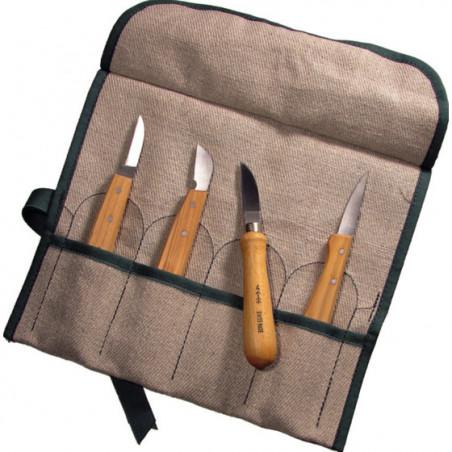Set de 4 couteaux de sculpteurs Boesner by Pfeil