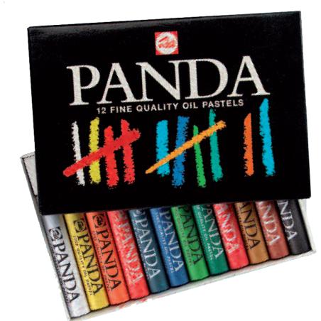 Panda boîte de pastels à l'huile