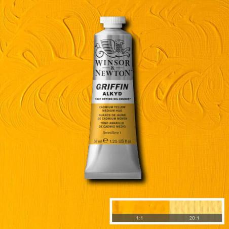 WINSOR ET NEWTON GRIFFIN ALKYDE 37ML S1 109 JAUNE CAD IMIT