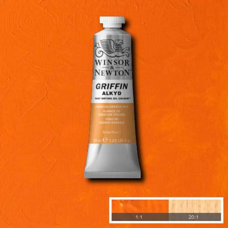 WINSOR ET NEWTON GRIFFIN ALKYDE 37ML S1 090 ORANGE CAD IMIT