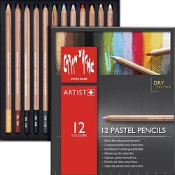 ARTIST BOITE 12 PASTEL PENCIL SEC EXTRA FINS CARAN D ACHE