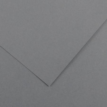 VIVALDI PAPIER 120G 50X65CM 36 GRIS FONCE