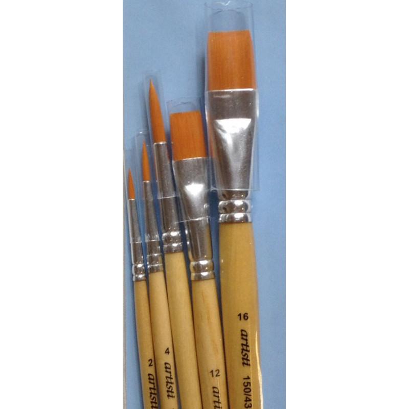Artisti set de 5 pinceaux série 150/42 et 150/43 synthétiques