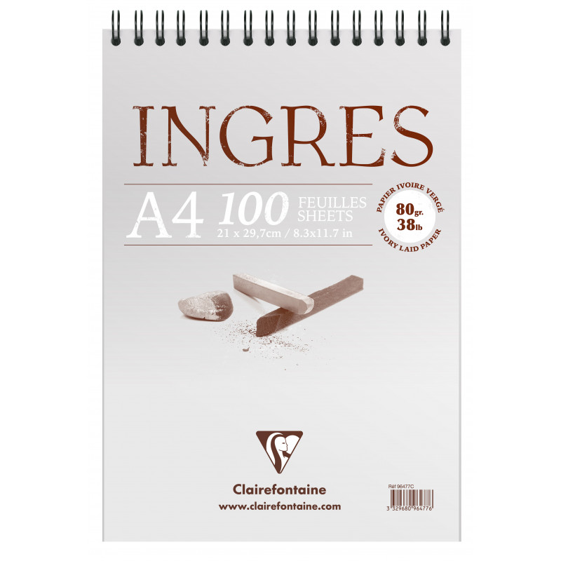 BLOC INGRES ETUDE VERGE 80G A4 100F
