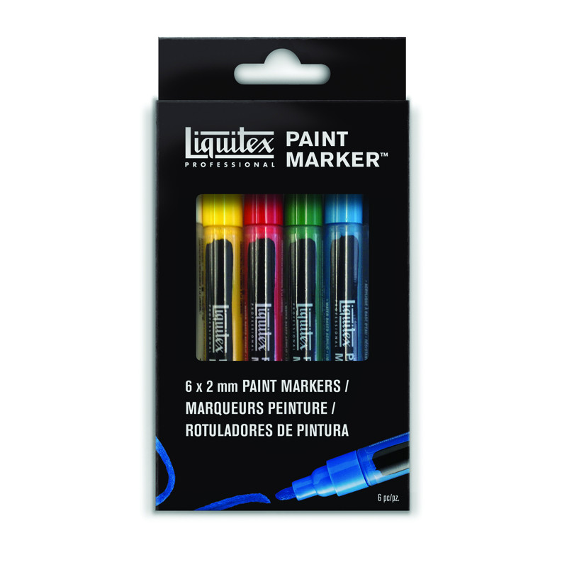 LIQUITEX  6 PAINT MARKER POINTE FINE 2MM STANDARD
