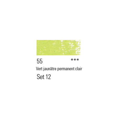 BOESNER PASTEL 55 VERT JAUNATRE PERMANENT CLAIR