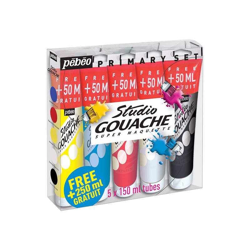 Set 5 tubes gouache Pebeo
