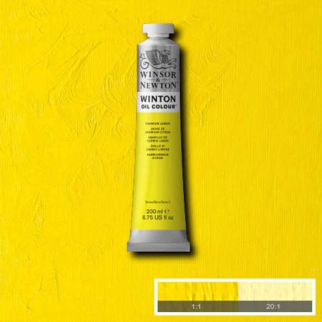 W&N PEINTURE HUILE WINTON 200ML 087 JAUNE DE CADMIUM CITRON