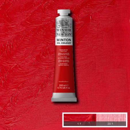 W&N PEINTURE HUILE WINTON 200ML 098 NUANCE ROUGE CADMIUM FONCE