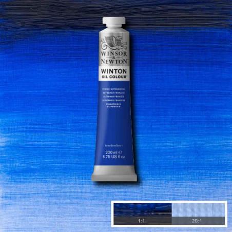 W&N PEINTURE HUILE WINTON 200ML 263 OUTREMER FRANCAIS