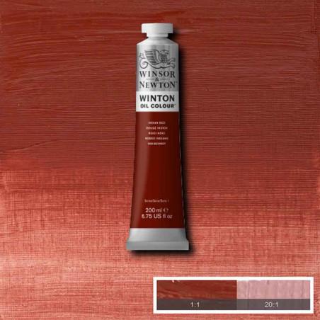 W&N PEINTURE HUILE WINTON 200ML 317 ROUGE INDIEN